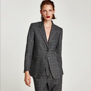 Zara Checked Blazer